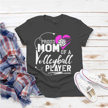 Proud Mom Volleyball Player Dad Mom High School Gif T-Shirt Ideas Birthd... - $15.99+