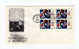 FDC ENVELOPE- HONORING STUART DAVIS & FINE ARTS 4BL-1964 ART CRAFT CACHE... - $0.98