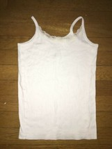 * The Childrens Place white Lace Tank pajama top pj jammies size 7 - 8 m... - $2.97