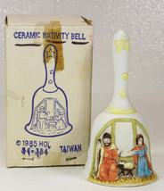 NATIVITY Bell Ceramic or Porcelain in Box dated 1985 - $9.99