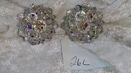 Vintage  crystal earrings So Downton abbey clip on  lot 26 RD redo - $40.00