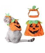 Pet Halloween Pumkin Costume Adjustable Hat Puppy Cat Clothes Party Appa... - $10.48