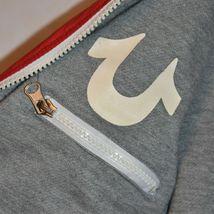 True Religion Red & Navy Blue Lined Reversible Windbreaker Hooded Jacket Size S image 5