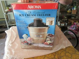 Aroma, Ice Cream Freezer , 4 Quart , Die-Cast Hand Crank - $85.00