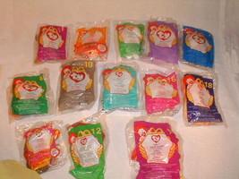Ty animals mix lot 13 pcs mcDonalds  vintage new bags advertising NRFP - $56.48