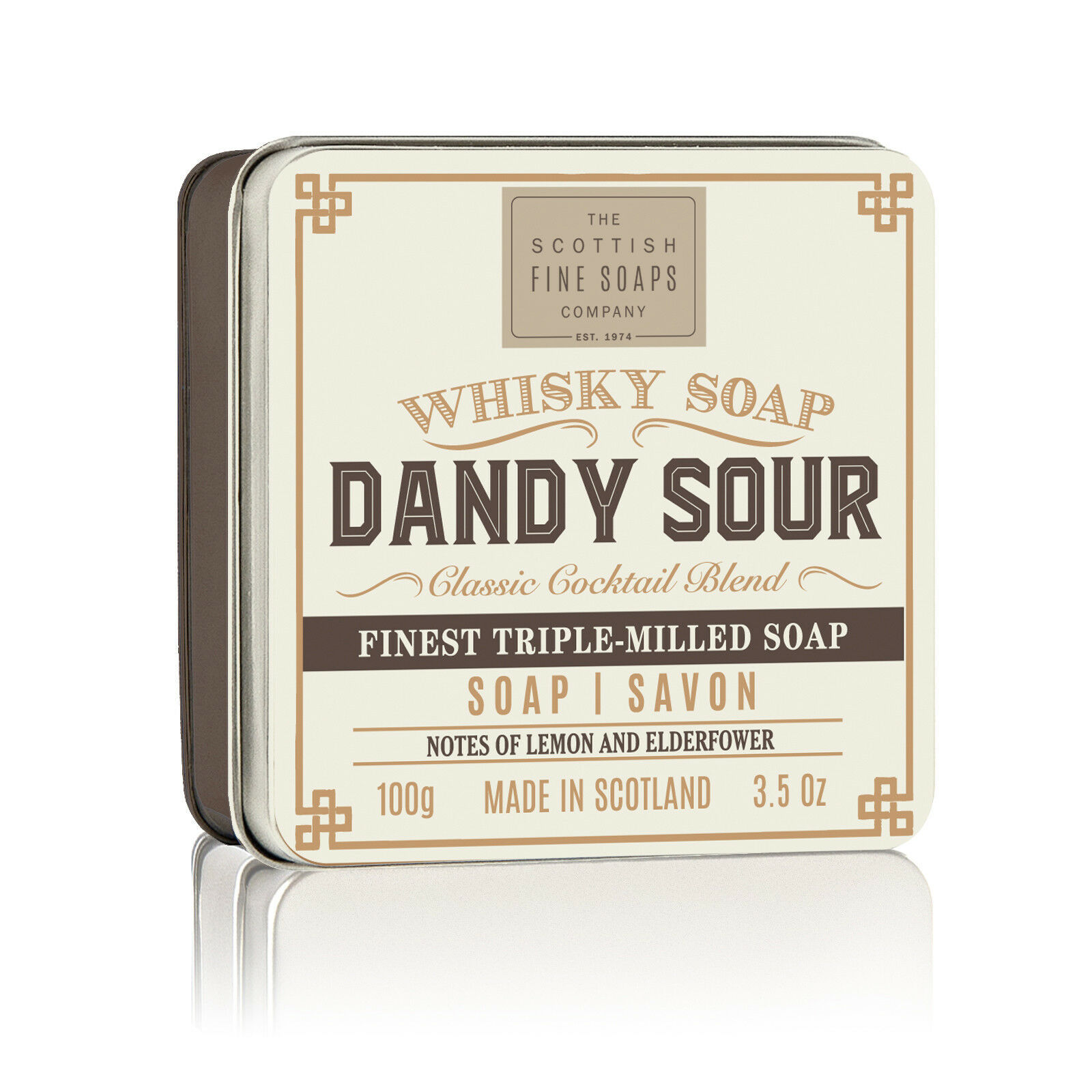 Scottish Fine Soaps Dandy Sour Soap in a Tin 100g 3.5oz, Imported From Scotland