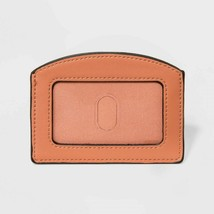 A New Day ID & Card Carry Case Wallet Faux Leather Calm Orange New - $7.18