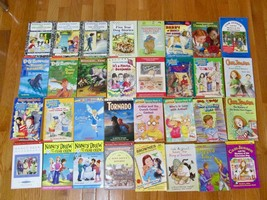 Lot of 32 Children's Chapter Books A to Z Cam Jansen Jigsaw Jones Arthur... - $29.91