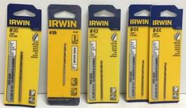 (New) Irwin Wire Gauge #30, #39, #43, #44  Drill Bit Set - $19.79