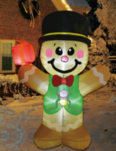 GOOSH 5 Foot Christmas Inflatable LED Lighted Gingerbread Man Blow up De... - $64.95