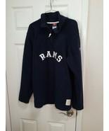 LA Rams Fleece 1/4  Zip Jacket Men's Medium Navy - $14.31