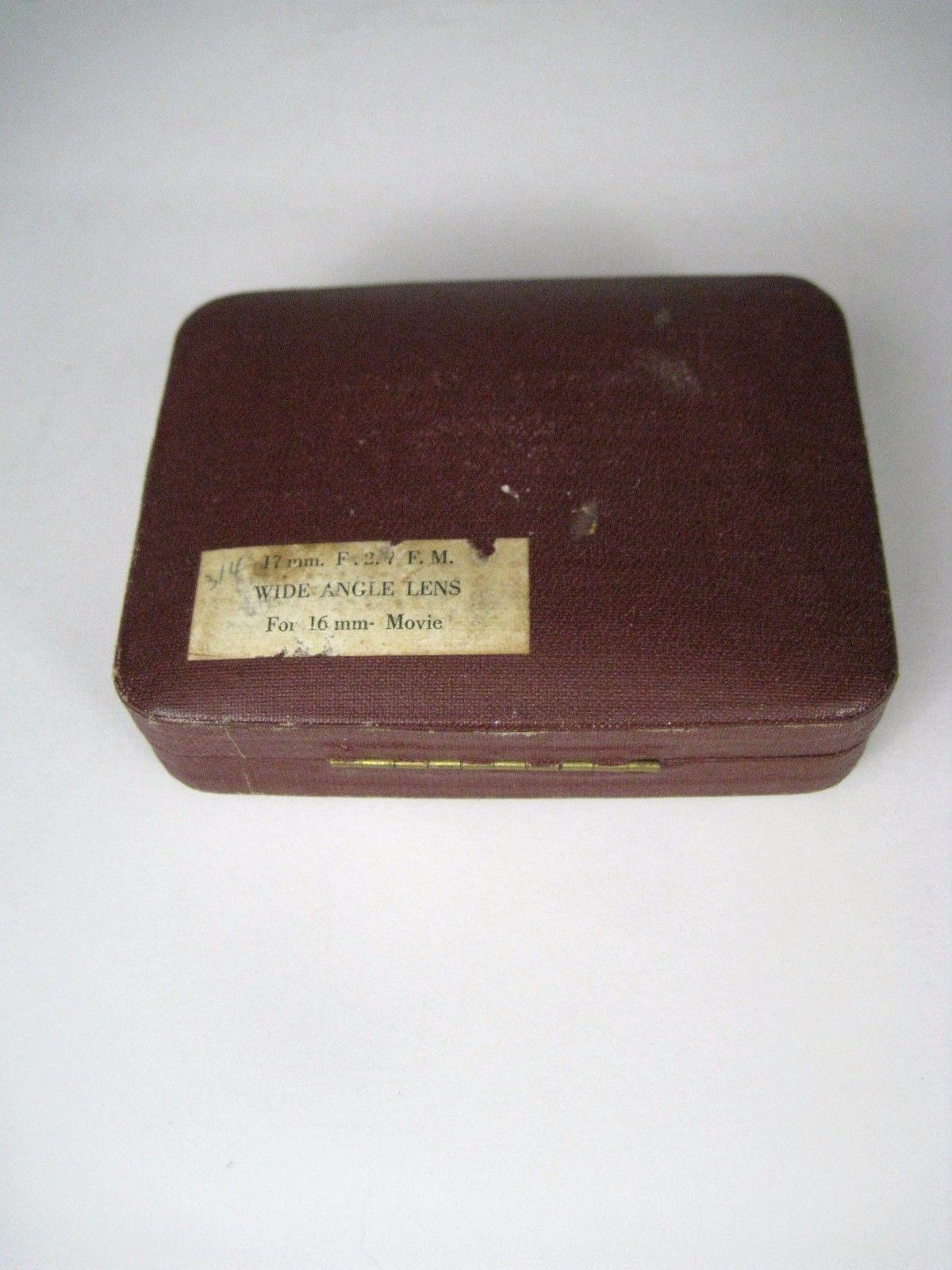 Elitar Soligor 17 mm f:2.7 Lens Wide Angle Y-314 Vintage Damage Display for 16mm