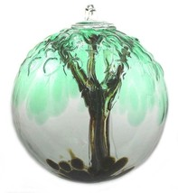 "6"" European Art Glass Spirit Tree Embossed Leaf ""CEDAR HAVEN"" Witch Ball... - $42.20"
