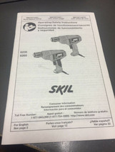 Skil Pistol Grip Drills Owners Manual Instructions for SKIL 6235 and 6265 - $3.00