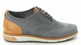 NEW J Sport By Jambu Mens Gray Lincoln Oxford Lace Up Wingtip Shoes image 2