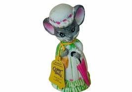 Jasco Critter Bell Mice Mouse anthropomorphic vtg figurine umbrella para... - $19.25