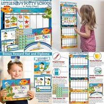 Potty Training Chart for Toddlers - Sea Theme - Sticker - Celebratory... - $16.38