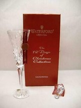 WATERFORD 12 Days of CHRISTMAS 3 French HENS Flute 3rd Edition Swirl CHA... - $89.13