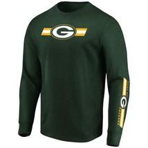 Mens Majestic Green Bay Packers Dual Threat Long Sleeve NFL T-shirt XXL ... - $25.99