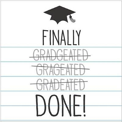 "16 Tassel Talk Graduation Beverage Napkins - Finally done(10""x 10"")"