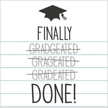"16 Tassel Talk Graduation Beverage Napkins - Finally done(10""x 10"")  - $5.93"