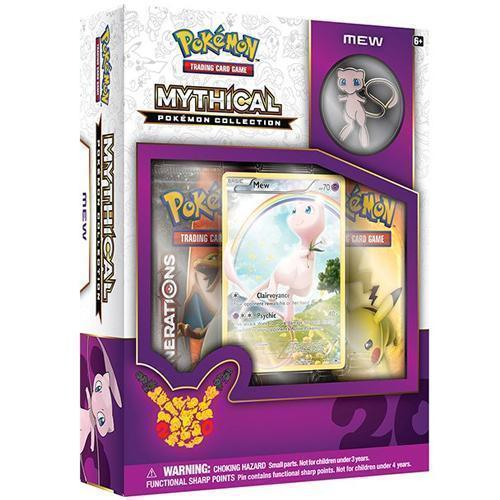 Pokemon Shining Legends Mewtwo and Mew Mythical Collection Pin Boxes Bundle