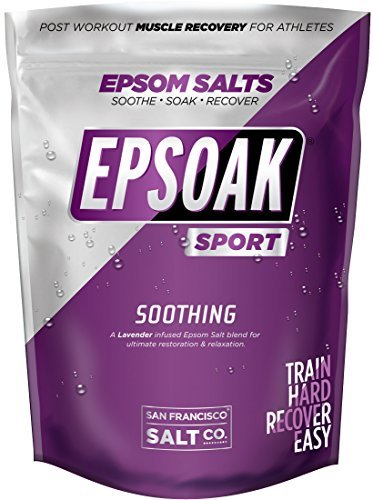 Epsoak SPORT Epsom Salt for Athletes - 5 lbs. SOOTHING Therapeutic Soak with Lav
