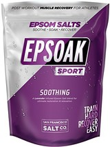 Epsoak SPORT Epsom Salt for Athletes - 5 lbs. SOOTHING Therapeutic Soak with Lav image 1