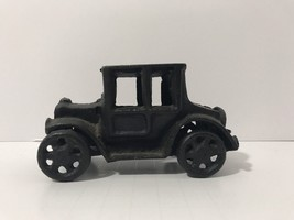 Die-Cast Cast Iron Metal Car Black Wheels Roll Collectable Automobile - $12.34