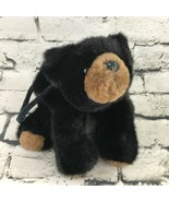 The Bearington Collection Black Bear Tote Bag Plush Soft Zipper Pouch Teddy - $9.89