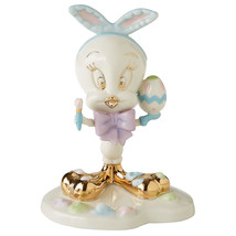 Lenox Tweety Easter Egg Artist Figurine Bird Painting Bunny Ear Looney T... - $59.40
