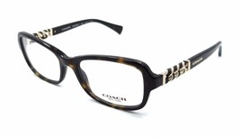 New Authentic Coach Rx Eyeglasses Frames HC 6075Q 5120 50x18 Dark Tortoise - $79.20