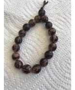 Vintage Stretch Bracelet Two Tone Brown Jewelry Womens Girls - $3.63