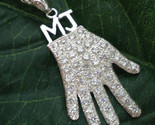 Handmade 925 Sterling Silver Michael Jackson Billie Jean Glove Necklace - £109.89 GBP