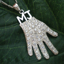 Handmade 925 Sterling Silver Michael Jackson Billie Jean Glove Necklace - $185.00