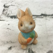 """Young Baby Bunny Rabbit Miniature 1.5"""" Ceramic Figure Cute Collectible D... - $9.89"""
