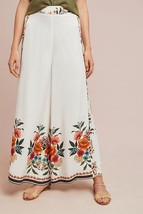 Nwt Anthropologie Melila Floral Flared Pants By Farm Rio M - $123.49