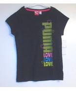 Puma Girls Black T-Shirt Love Various Sizes  NWT - $10.39