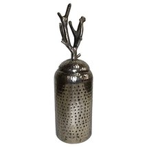 A and B Home 6-inch x 19-inch Aluminium and Iron Lidded Jar - $67.30