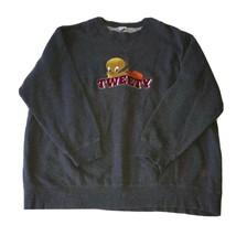 Vintage 1995 Warner Bros Studio Store Tweety Bird Gray Sweatshirt Mens S... - $49.49