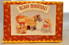 Hallmark - Cowboy Cameron - 3 Piece Set - Merry Miniature Collection 1996 - $11.38