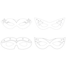 "Girl Superhero 2 3/8"" x 6 3/8"" 4 Designs Color Your Own Mask, Case of 72 - $29.76"