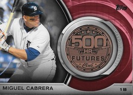2016 Topps Update 500 Home Run Club Medallions 500M-1 Miguel Cabrera NM-... - $7.99
