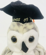 "Ty Wiser Owl Class Of 99 Beanie Babies 6"" Date Of Birth June 4 1999 Graduation - $13.99"