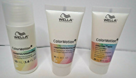 Wella Color Motion 1.6 oz Shampoo 1oz Conditioner 1oz Structure Mask Travel Size - $17.82