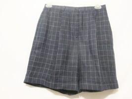 Vtg Lauren Ralph Lauren Pleated  Womens Shorts 12p Blue/White Checked Hi... - $25.00