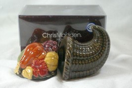 JC Penny Home Chris Madden Harvest Salt And Pepper Shaker Set - $8.31