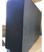 "Vintage Monarch Hardcover Suitcase Blue No Key 25"" MidCentury Luggage - $64.34"