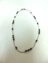 WOMENS VINTAGE ESTATE STERLING SILVER BEADED NECKLACE ISRAEL 6.8g  #E2173 - $24.99