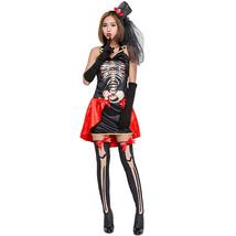 Halloween Skeleton Vampire Patchwork Skull Cosplay Suit - $745,99 MXN